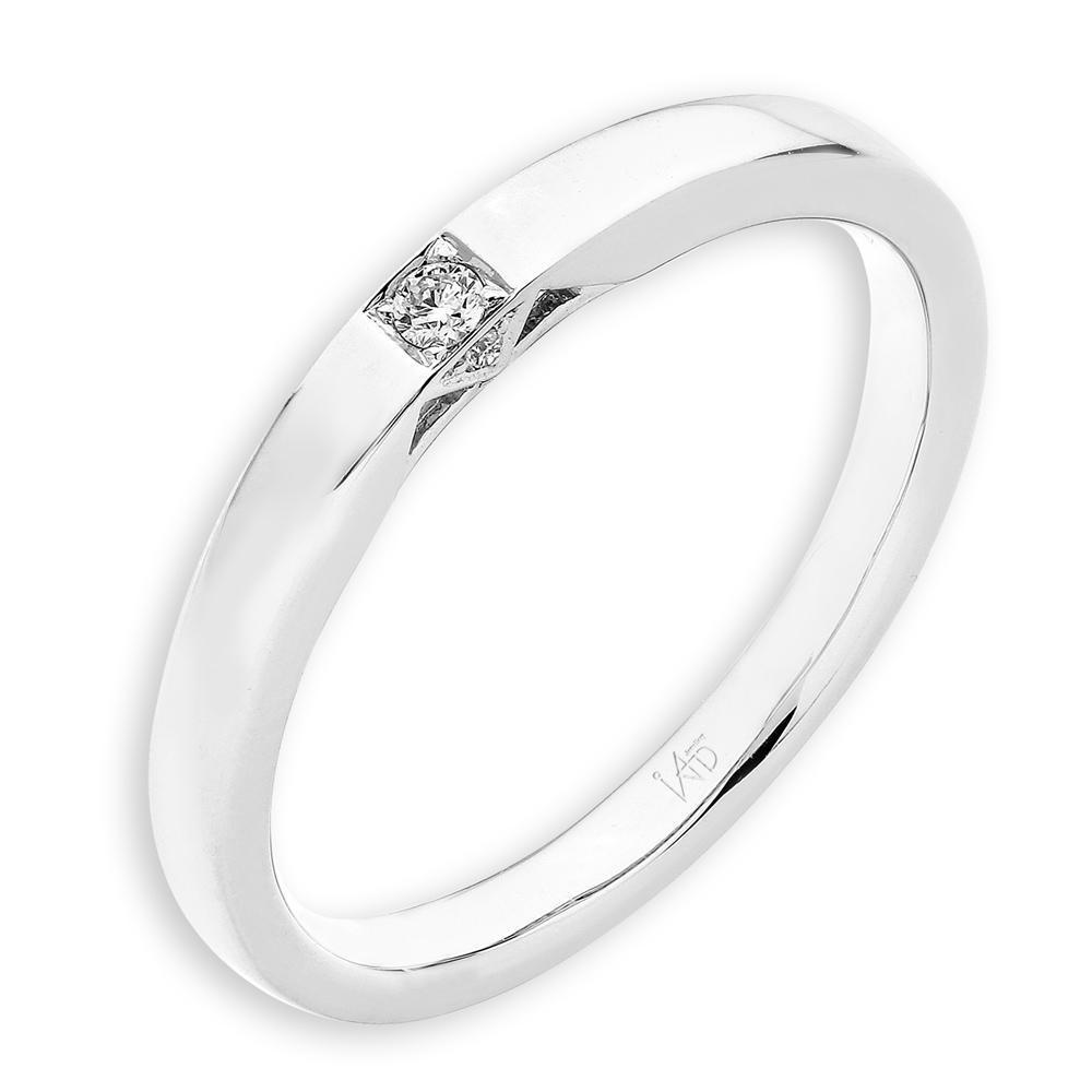 18k White Gold Ring with Diamonds (0.029ct) Ring Olivia Davenport Fine Jewels