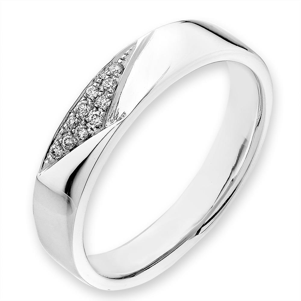 18k White Gold Ring with Diamonds (0.039ct) Ring Olivia Davenport Fine Jewels