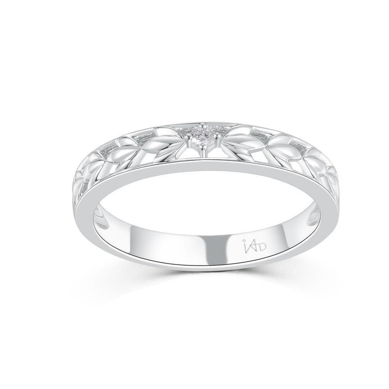 18k White Gold Ring with Diamonds (0.03ct) Ring Olivia Davenport Fine Jewels