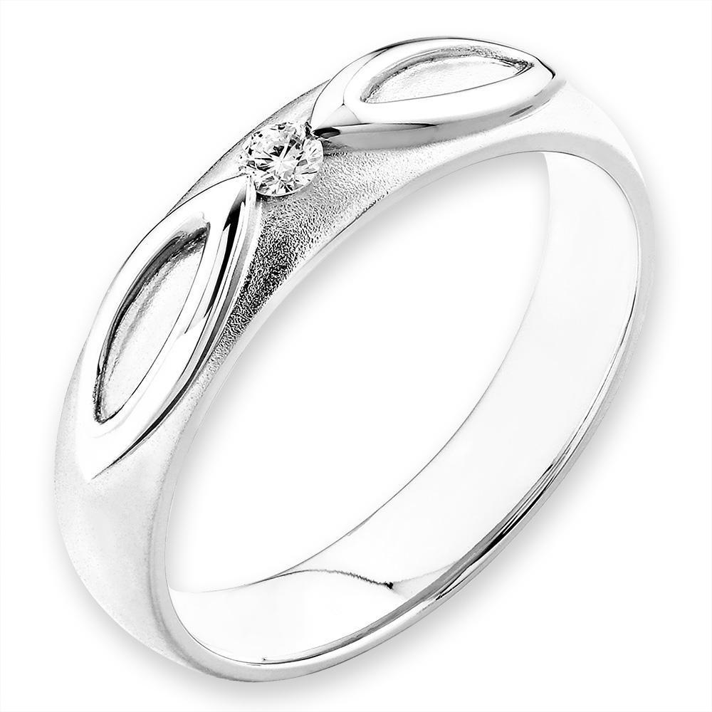 18k White Gold Ring with Diamonds (0.045ct) Ring Olivia Davenport Fine Jewels