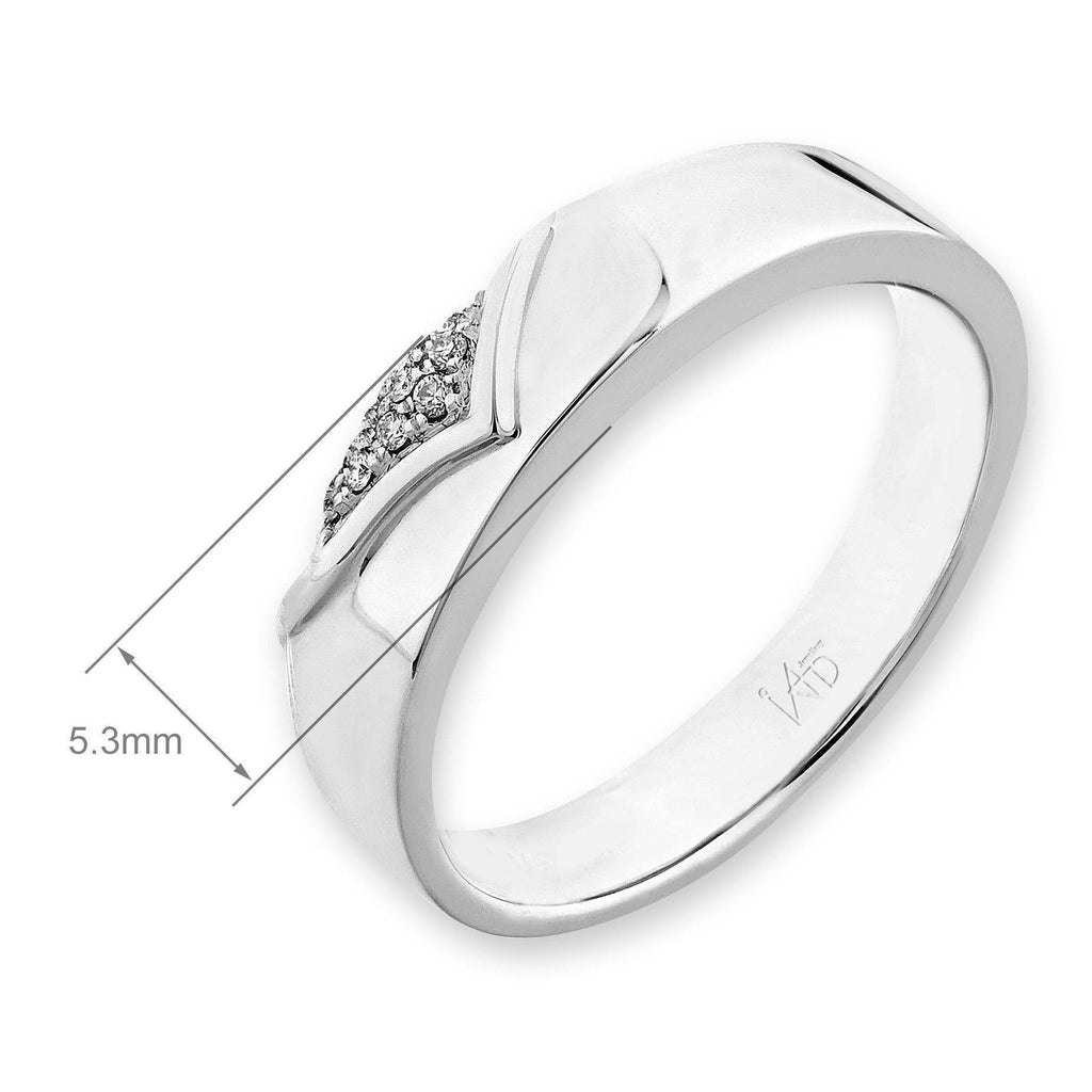 18k White Gold Ring with Diamonds (0.048ct) Ring IAD