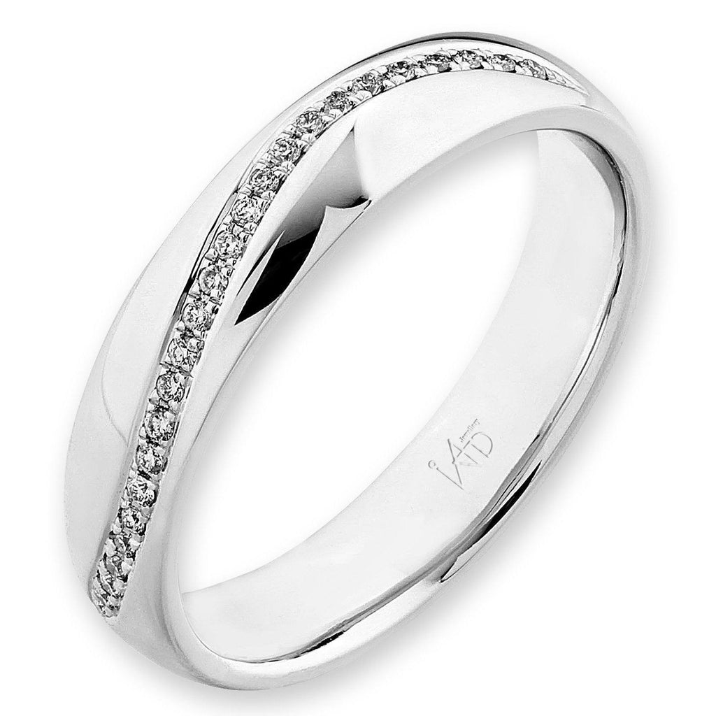 18k White Gold Ring with Diamonds (0.061ct) Ring Olivia Davenport Fine Jewels