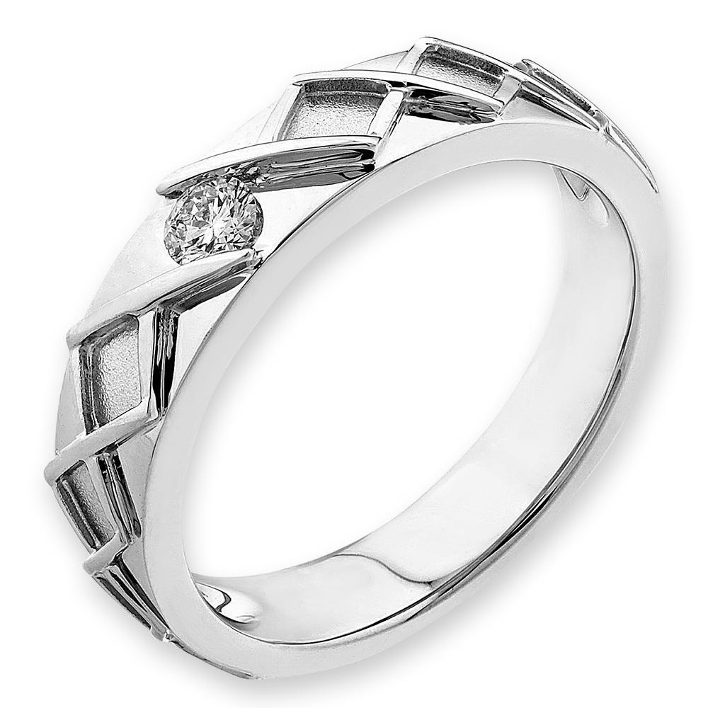 18k White Gold Ring with Diamonds (0.095ct) Ring Olivia Davenport Fine Jewels