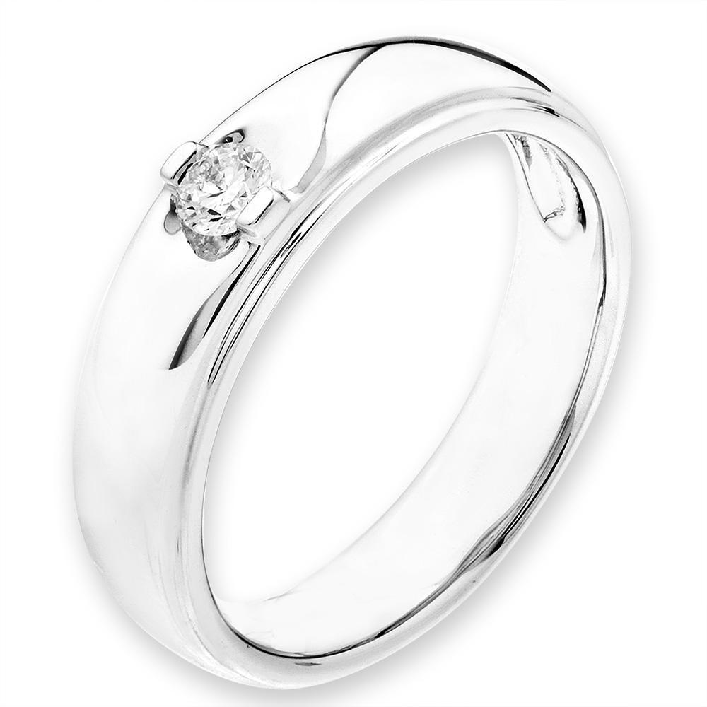 18k White Gold Ring with Diamonds (0.102ct) Ring Olivia Davenport Fine Jewels
