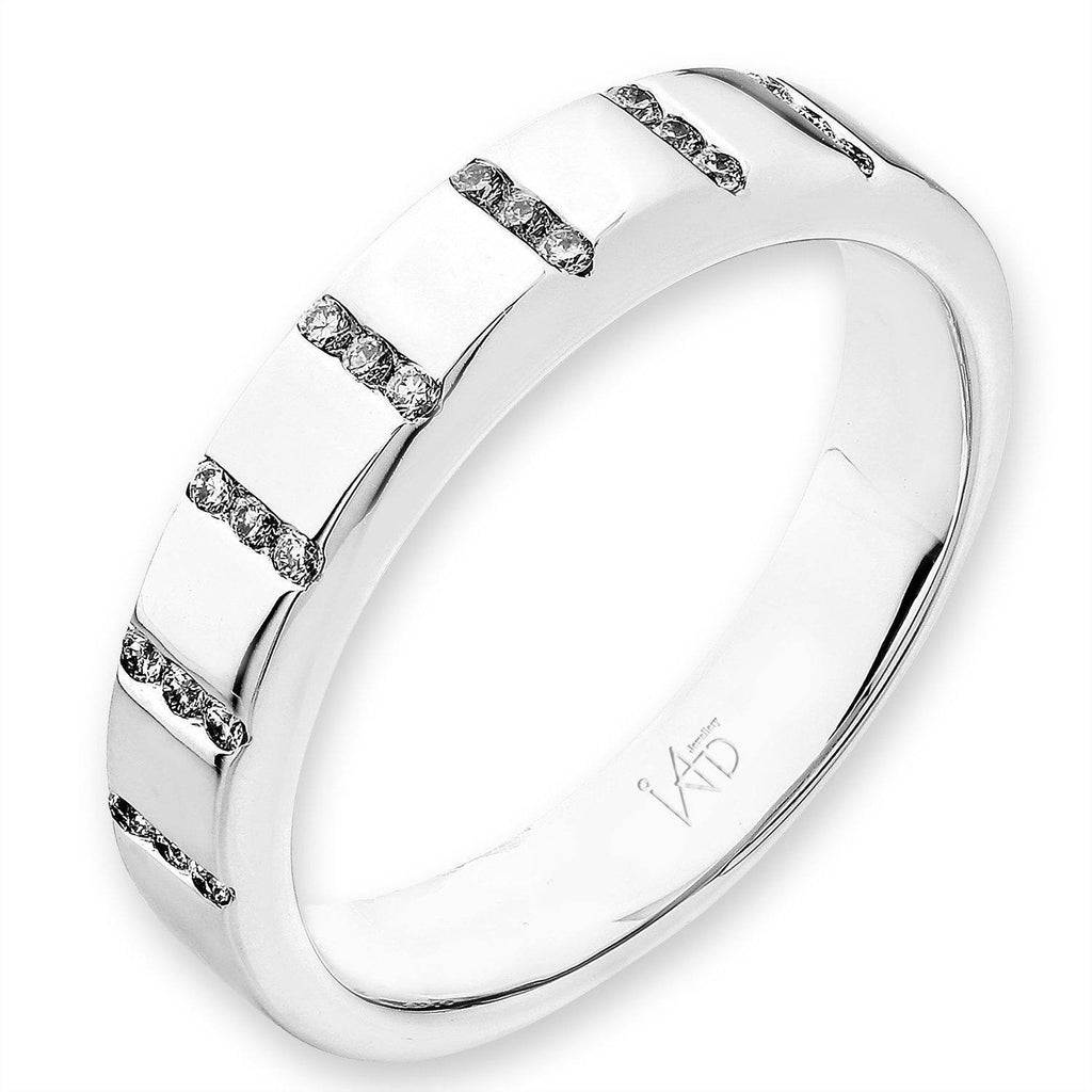 18k White Gold Ring with Diamonds (0.107ct) Ring IAD