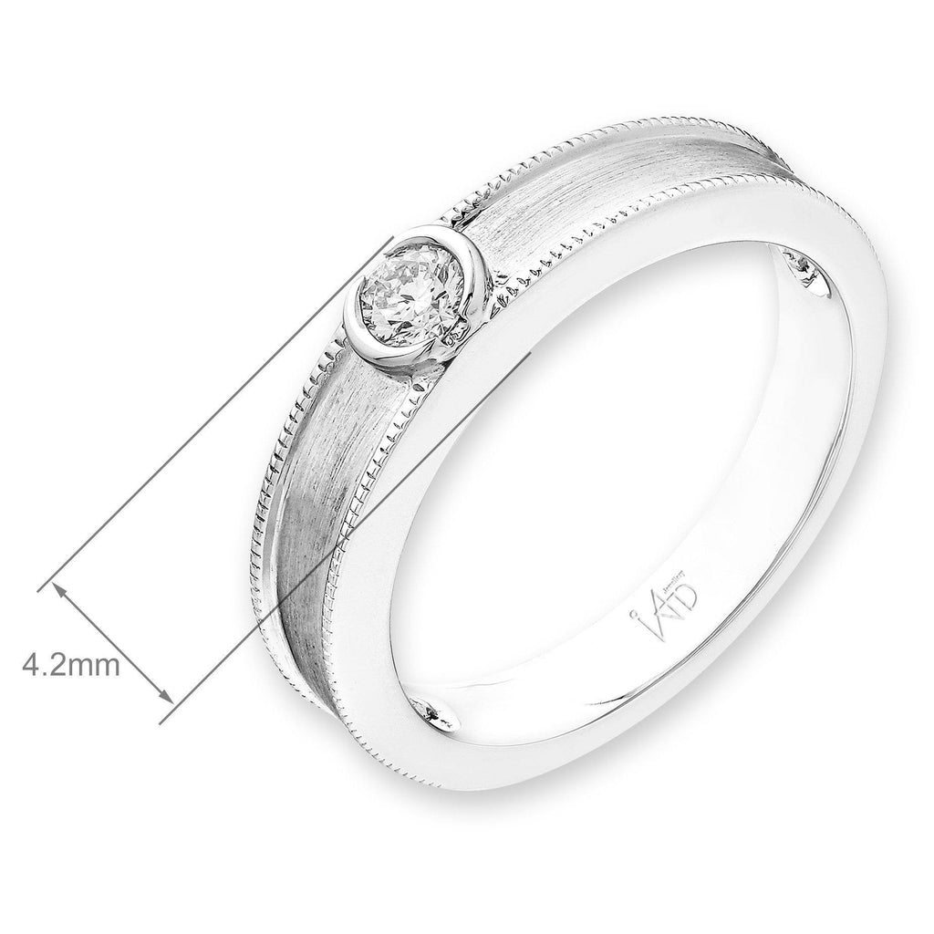 18k White Gold Ring with Diamonds (0.117ct) Ring IAD
