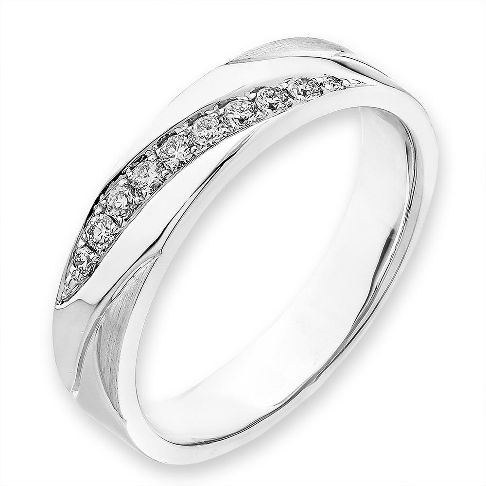 18k White Gold Ring with Diamonds (0.117ct) Ring Olivia Davenport Fine Jewels