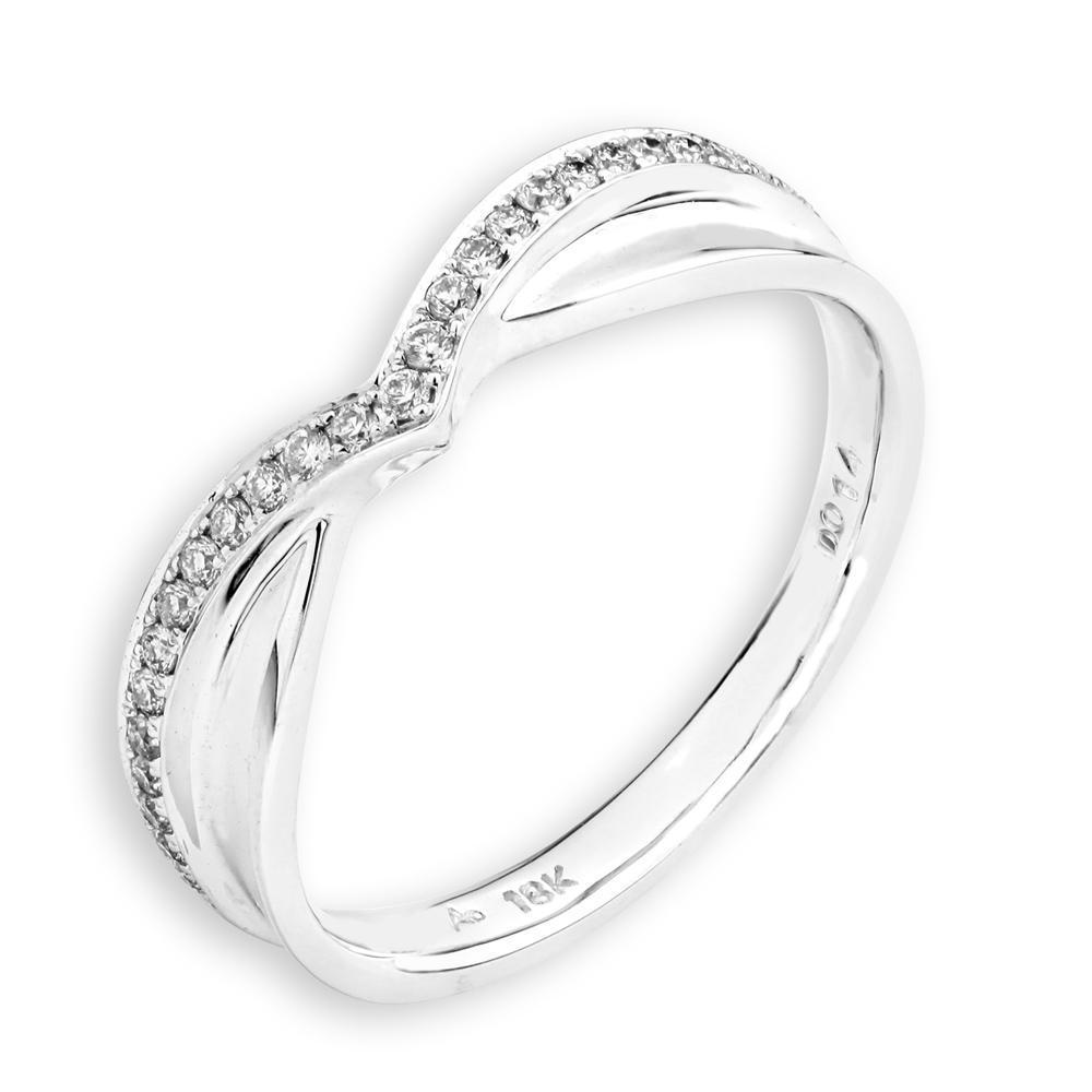18k White Gold Ring with Diamonds (0.124ct) Ring IAD