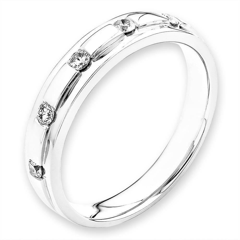 18k White Gold Ring with Diamonds (0.125ct) Ring Olivia Davenport Fine Jewels