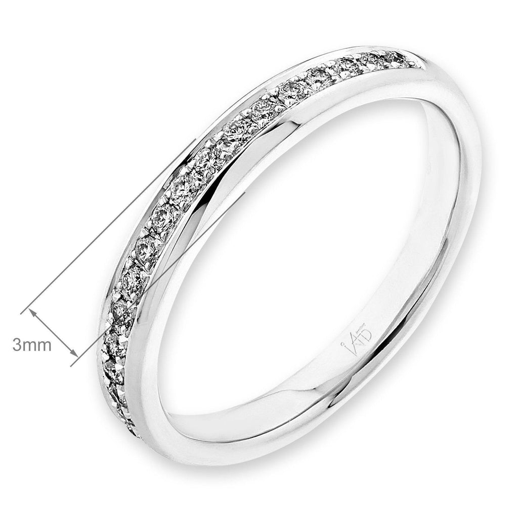 18k White Gold Ring with Diamonds (0.134ct) Ring Olivia Davenport Fine Jewels