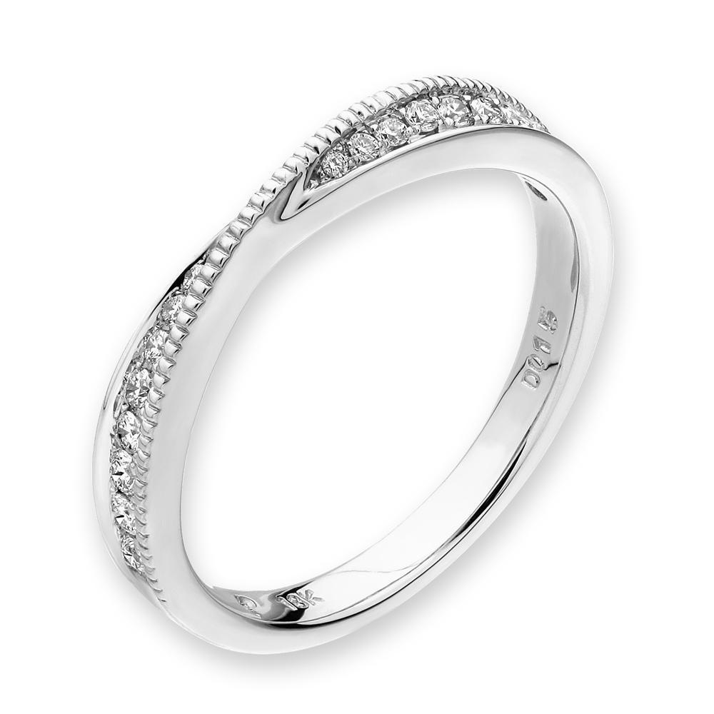 18k White Gold Ring with Diamonds (0.143ct) Ring Olivia Davenport Fine Jewels