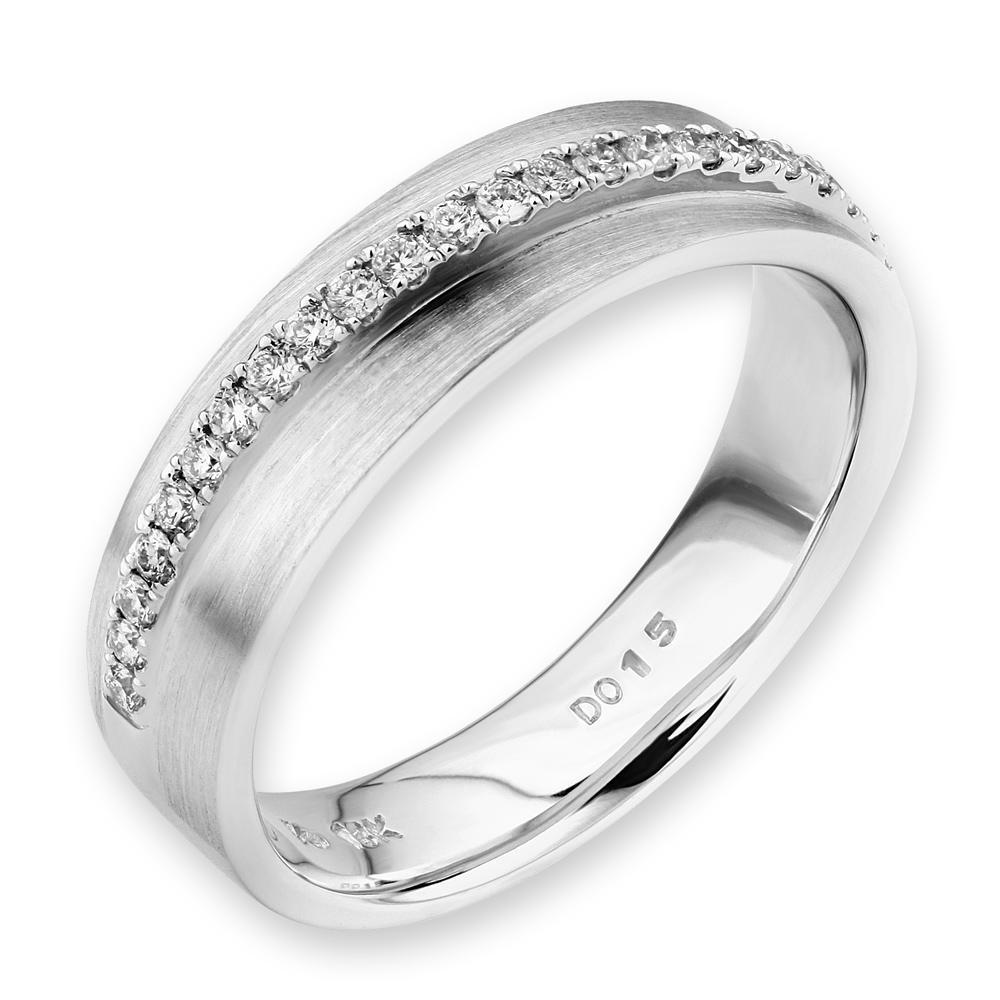 18k White Gold Ring with Diamonds (0.144ct) Ring IAD