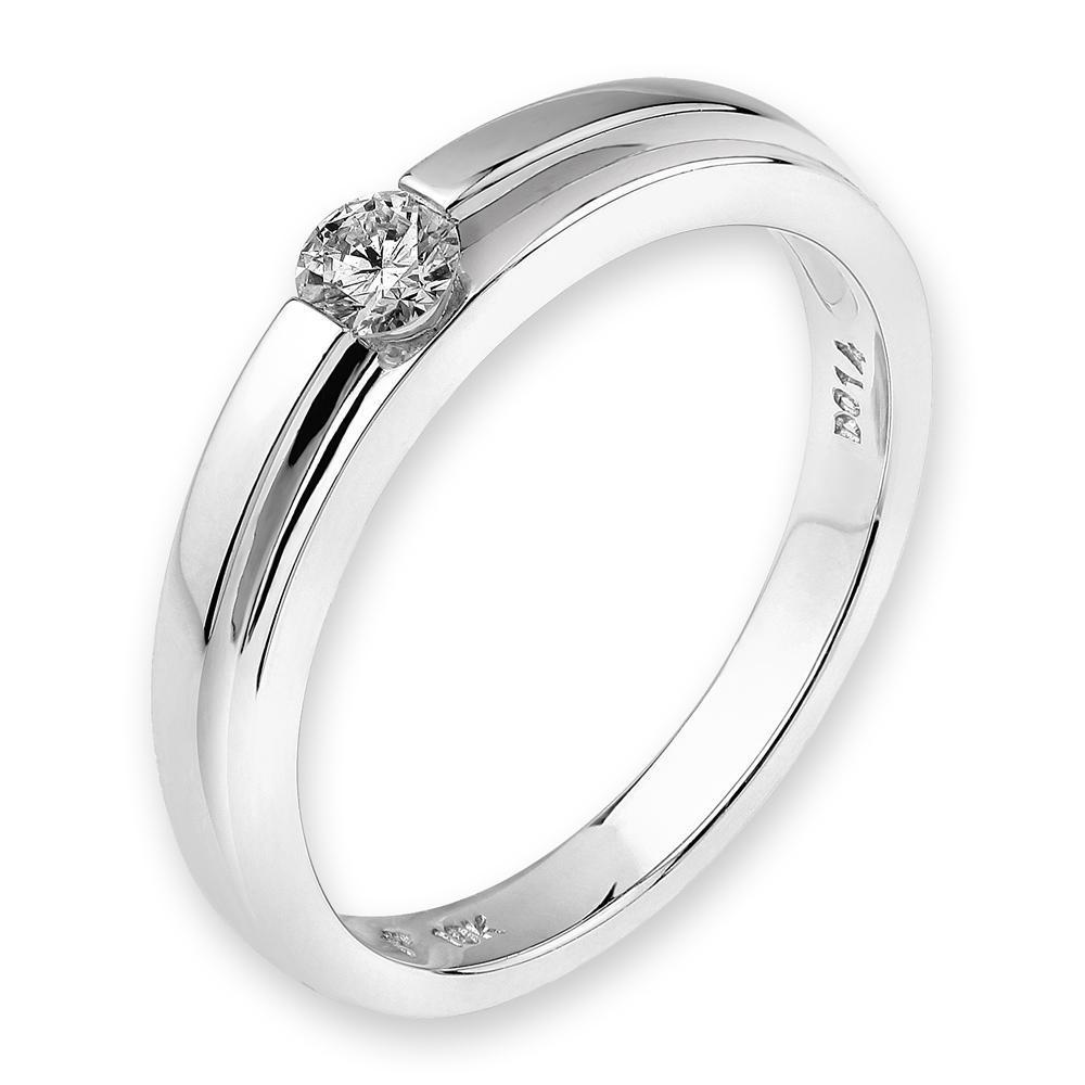 18k White Gold Ring with Diamonds (0.148ct) Ring IAD