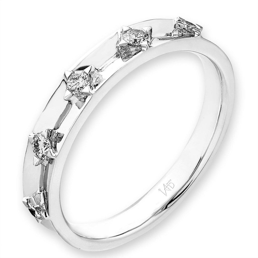 18k White Gold Ring with Diamonds (0.149ct) Ring Olivia Davenport Fine Jewels