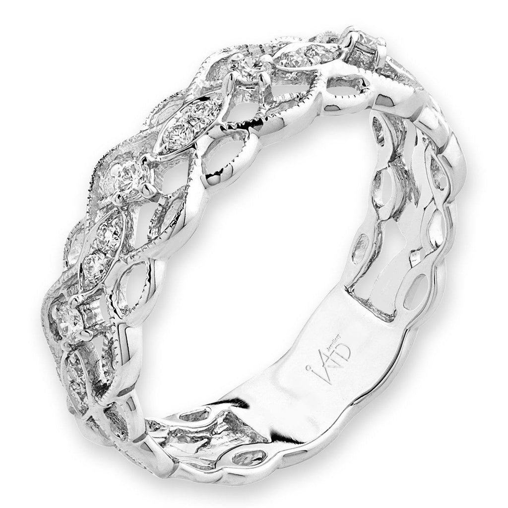 18k White Gold Ring with Diamonds (0.151ct) Ring IAD