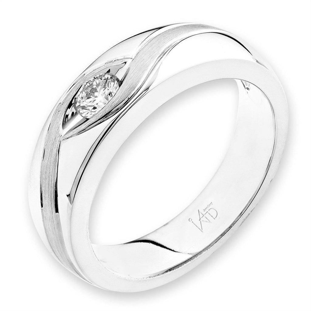 18k White Gold Ring with Diamonds (0.163ct) Ring Olivia Davenport Fine Jewels