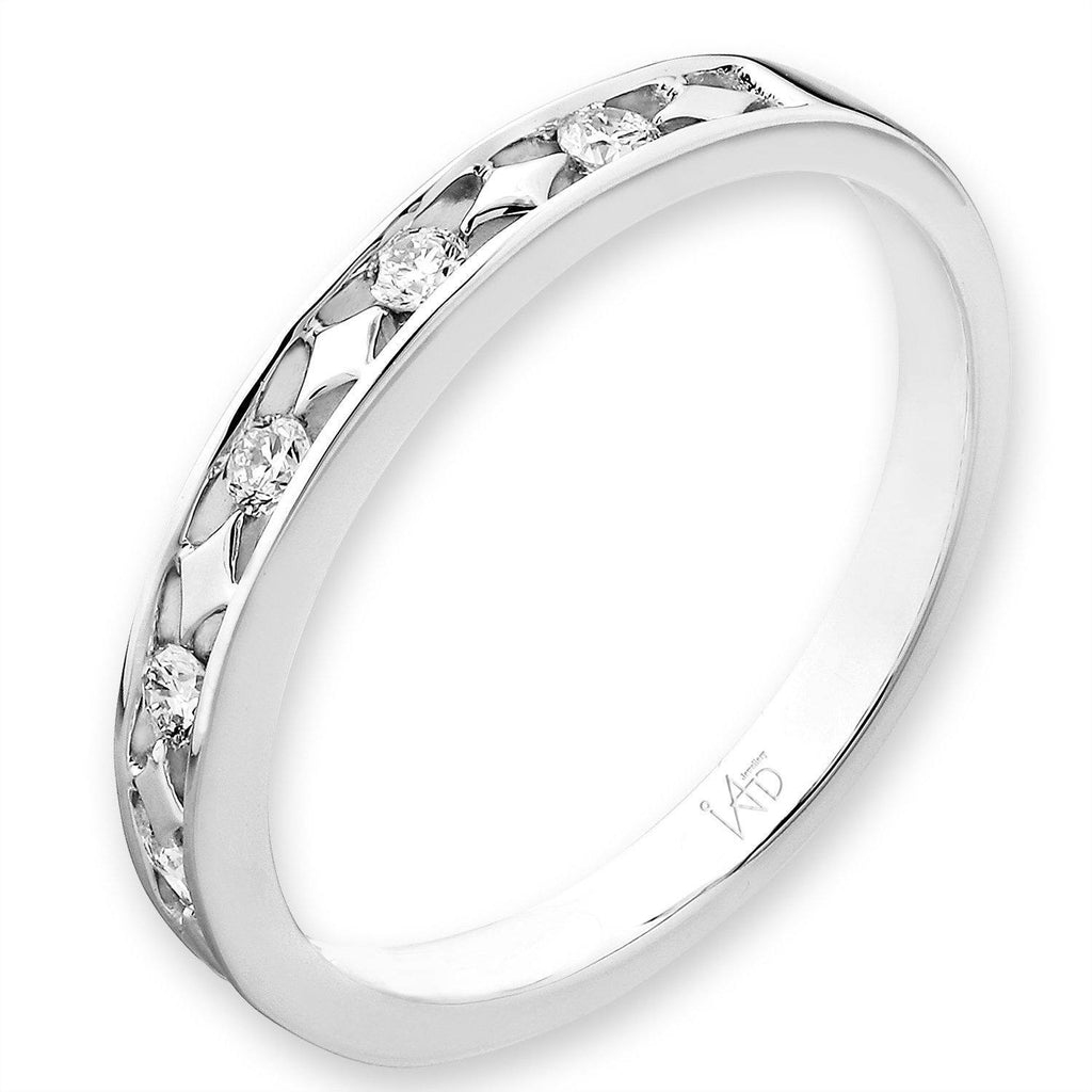 18k White Gold Ring with Diamonds (0.178ct) Ring Olivia Davenport Fine Jewels