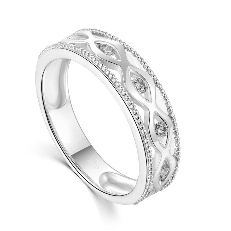 18k White Gold Ring with Diamonds (0.17ct) Ring Olivia Davenport Fine Jewels