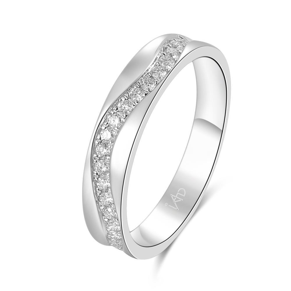 18k White Gold Ring with Diamonds (0.194ct) Ring Olivia Davenport Fine Jewels