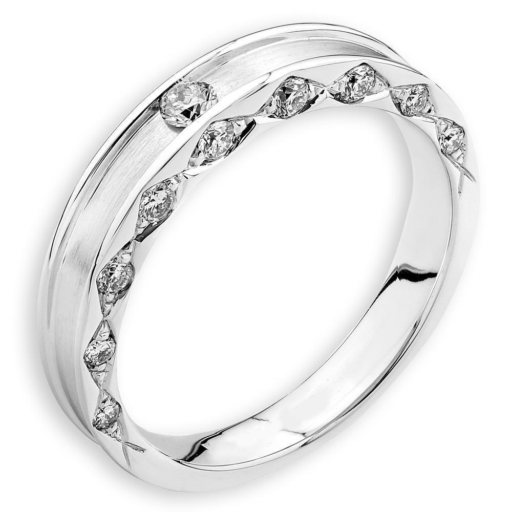 18k White Gold Ring with Diamonds (0.199ct) Ring Olivia Davenport Fine Jewels