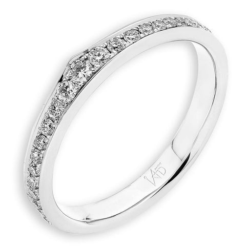 Men's Ring in 18k White Gold with Diamonds (0.039ct)