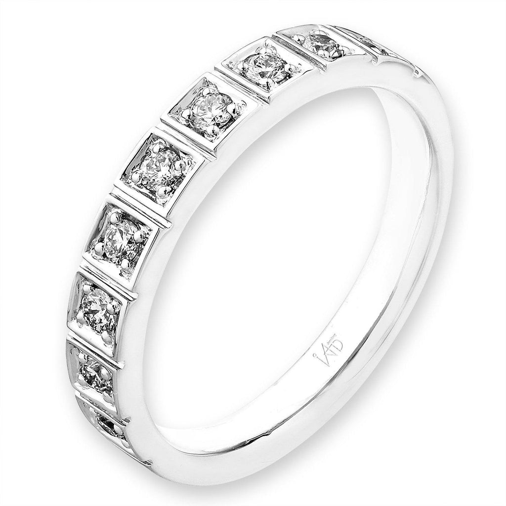 18k White Gold Ring with Diamonds (0.228ct) Ring IAD
