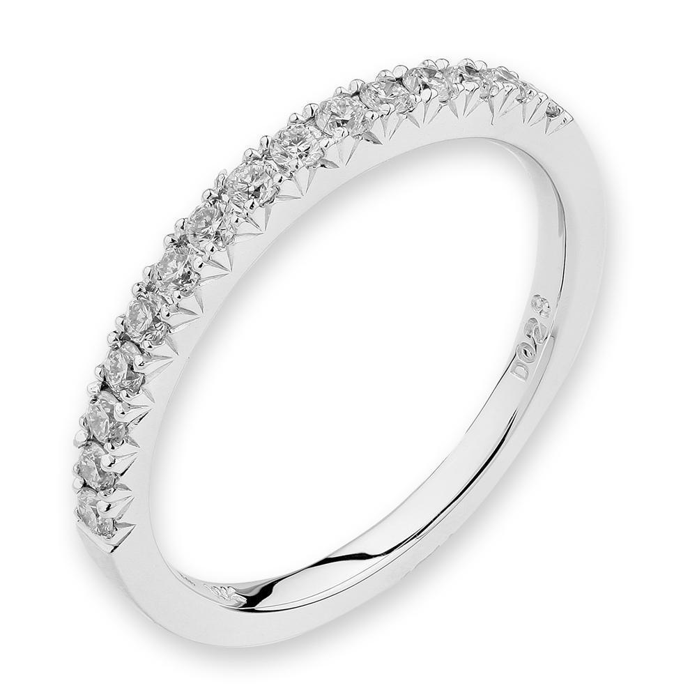 18k White Gold Ring with Diamonds (0.27ct) Ring IAD