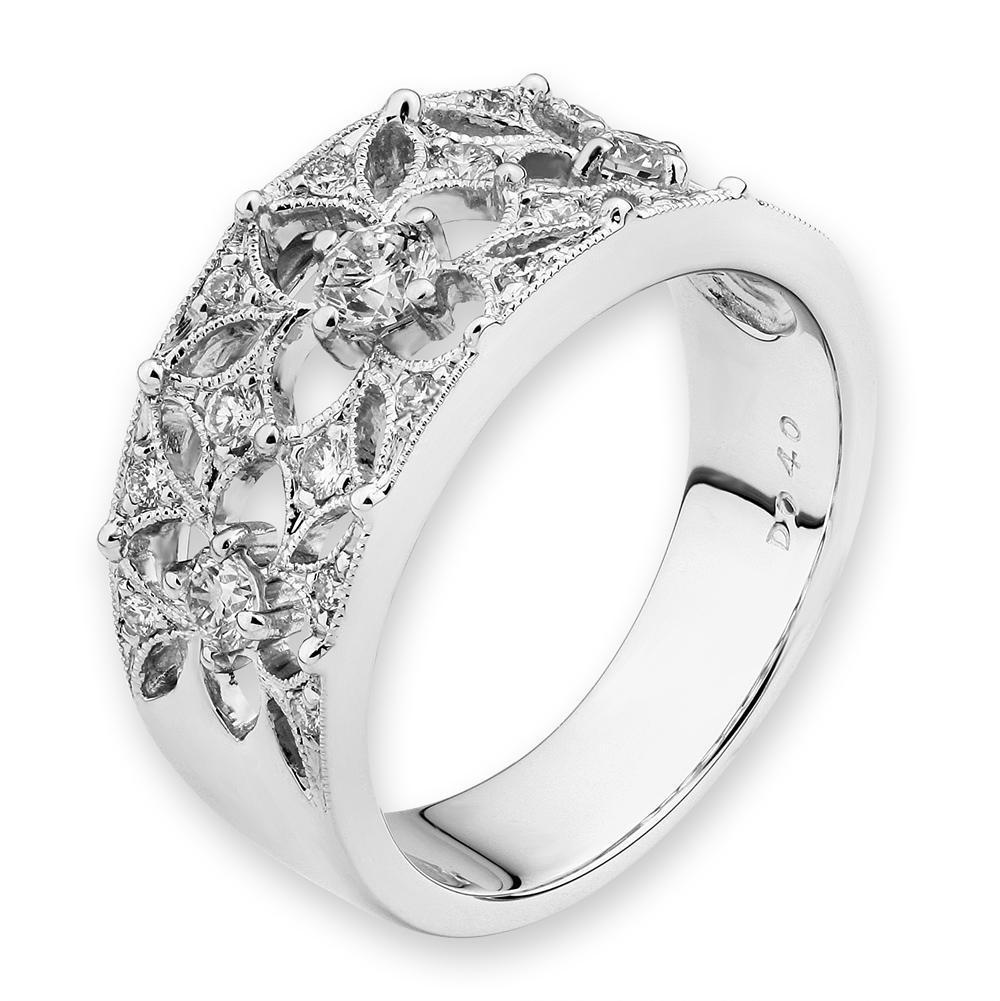18k White Gold Ring with Diamonds (0.378ct) Ring IAD