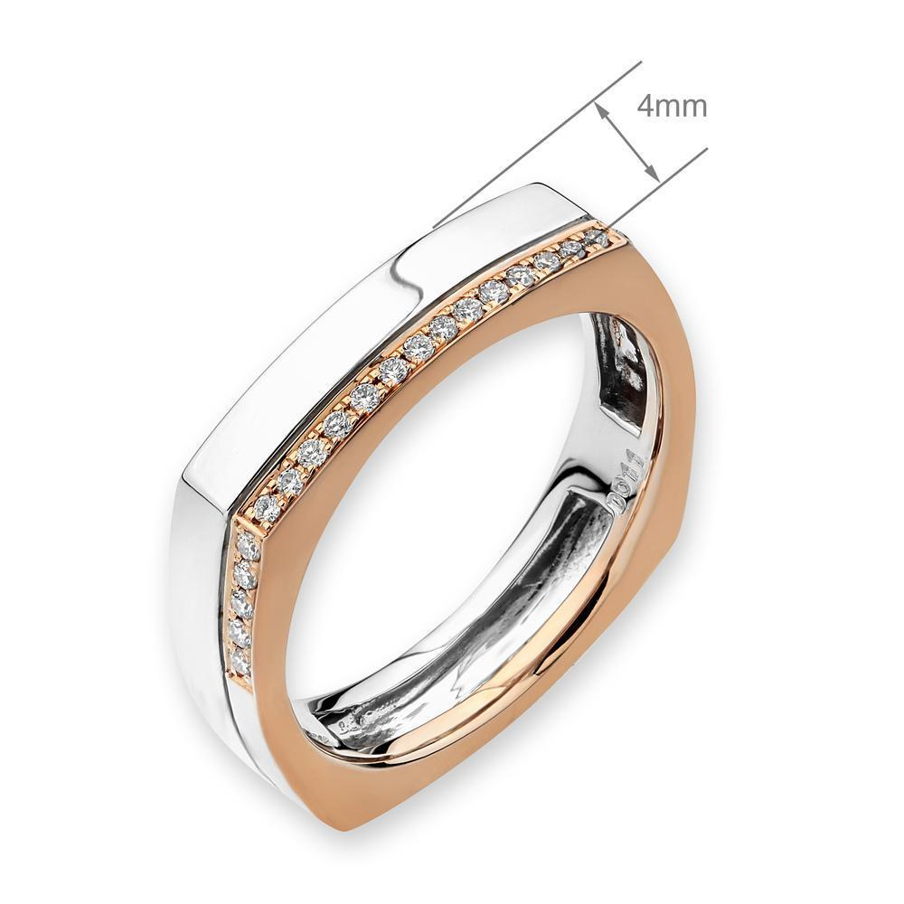 18k White & Rose Gold Ring with Diamonds (0.111ct) Ring Olivia Davenport Fine Jewels