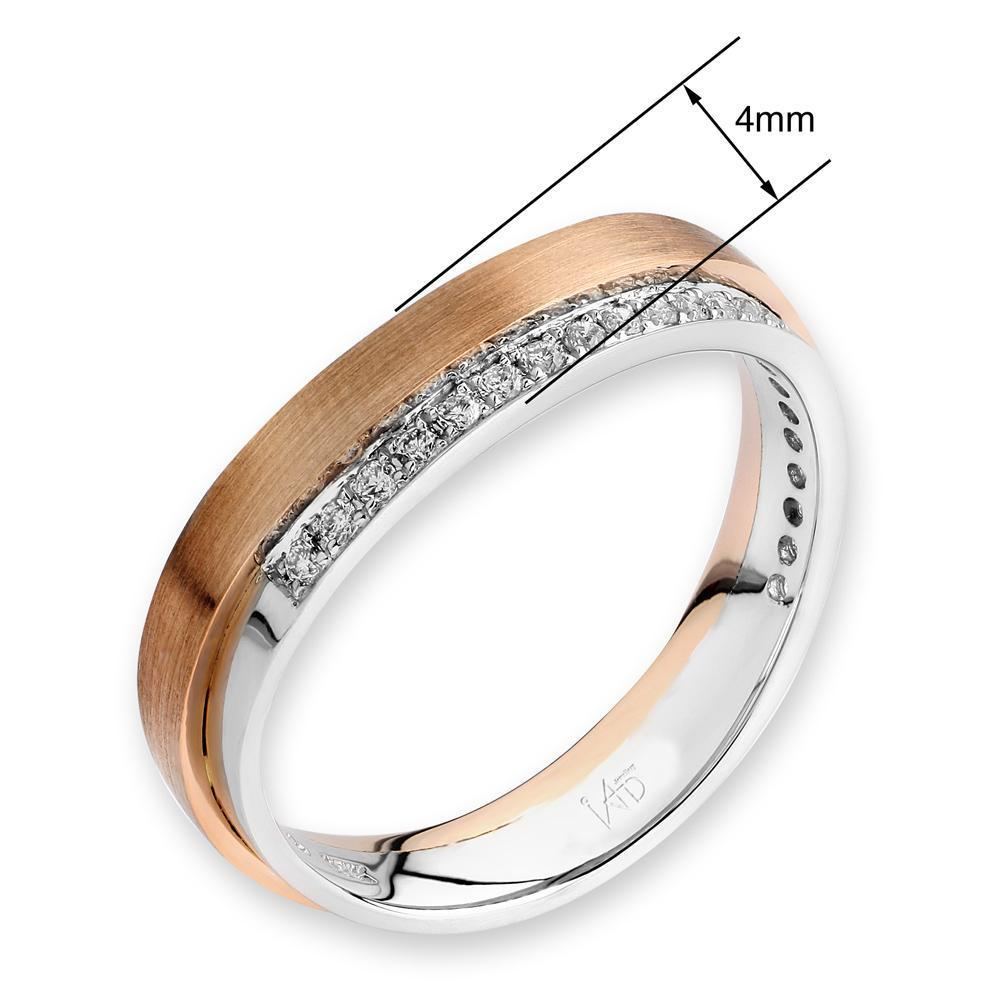 18k White & Rose Gold Ring with Diamonds (0.127ct) Ring IAD