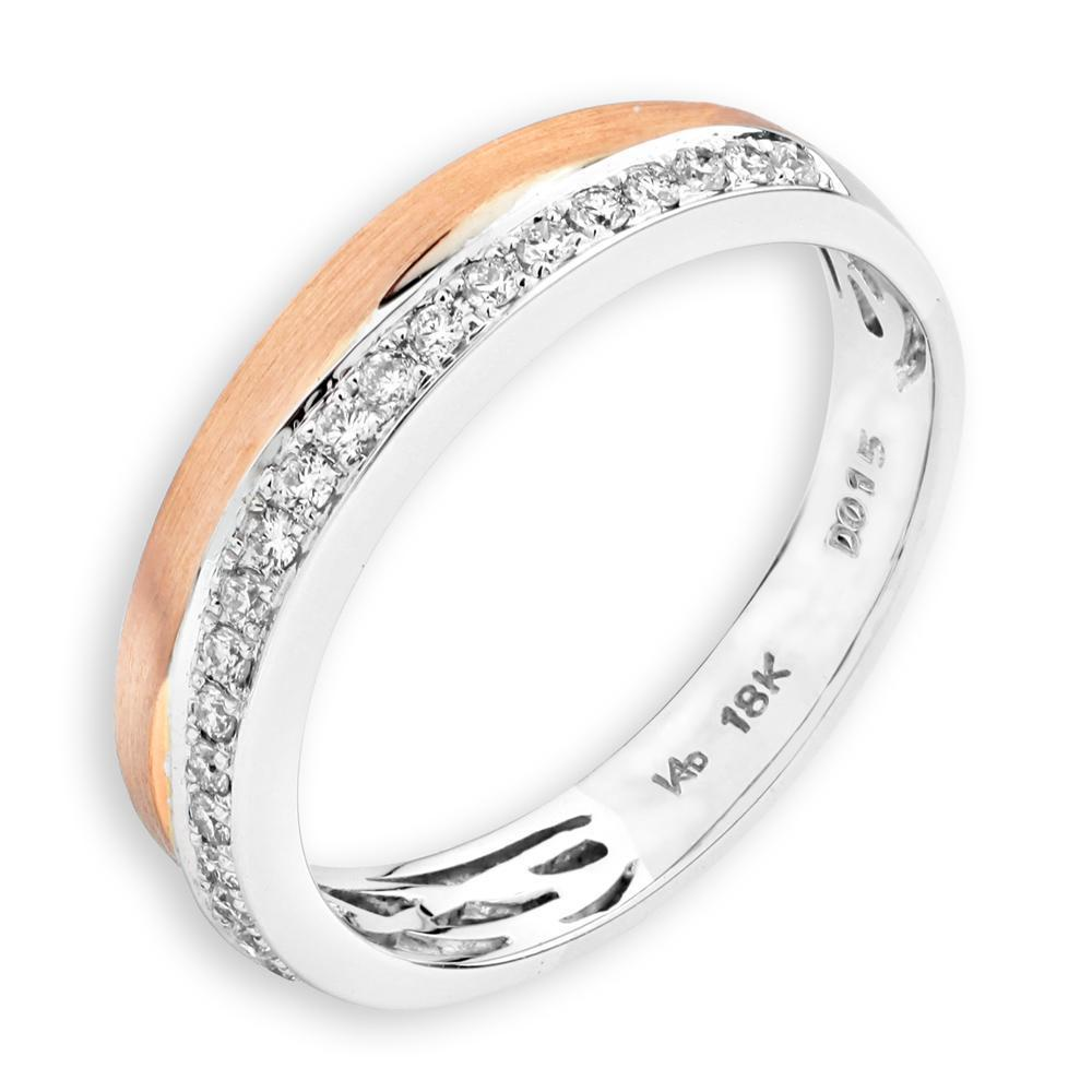 18k White & Rose Gold Ring with Diamonds (0.152ct) Ring Olivia Davenport Fine Jewels