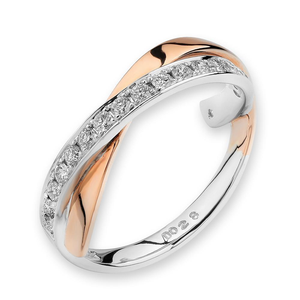 18k White & Rose Gold Ring with Diamonds (0.282ct) Ring Olivia Davenport Fine Jewels
