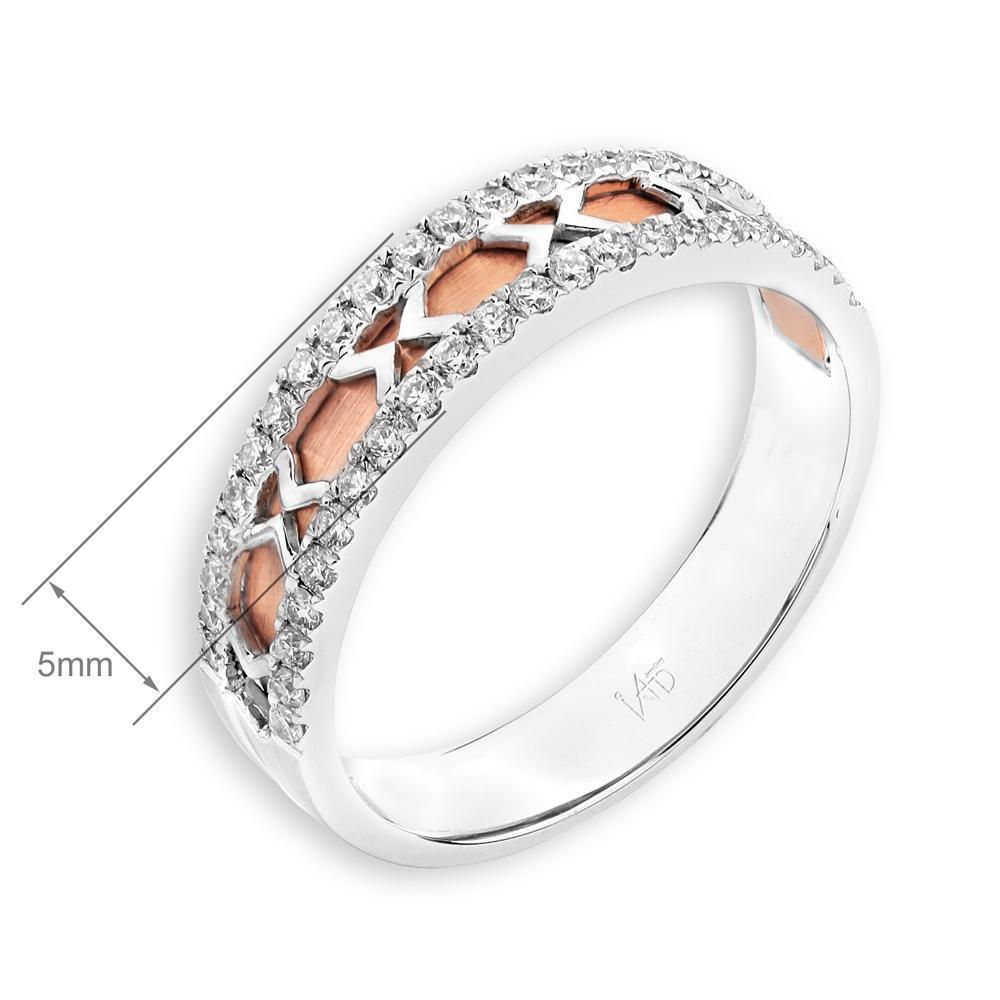 18k White & Rose Gold Ring with Diamonds (0.374ct) Ring Olivia Davenport Fine Jewels