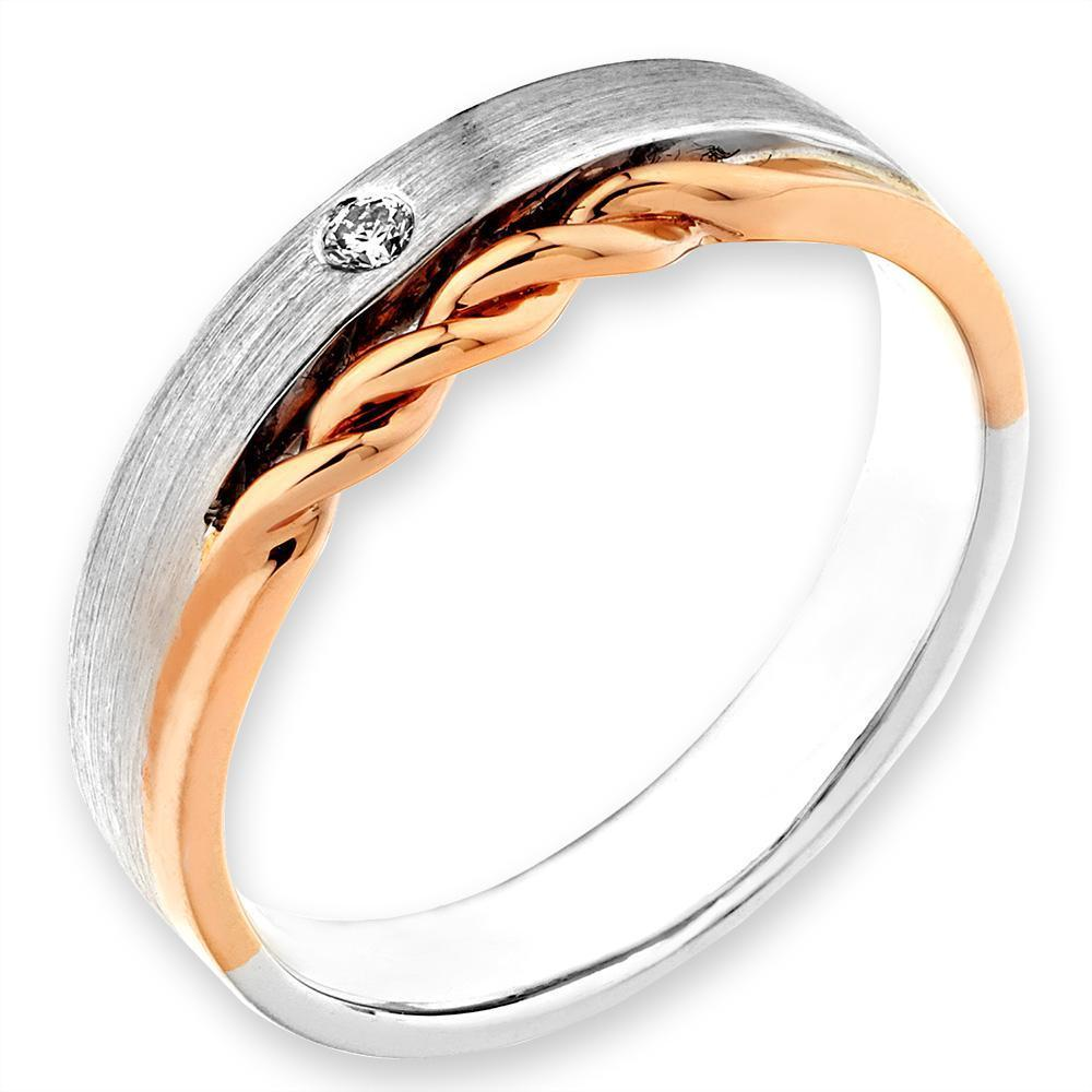 18k White & Rose Gold with Diamonds (0.027ct) Ring IAD