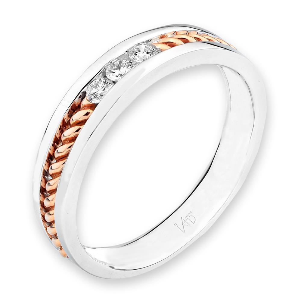 18k White & Rose Gold with Diamonds (0.101ct) Ring Olivia Davenport Fine Jewels