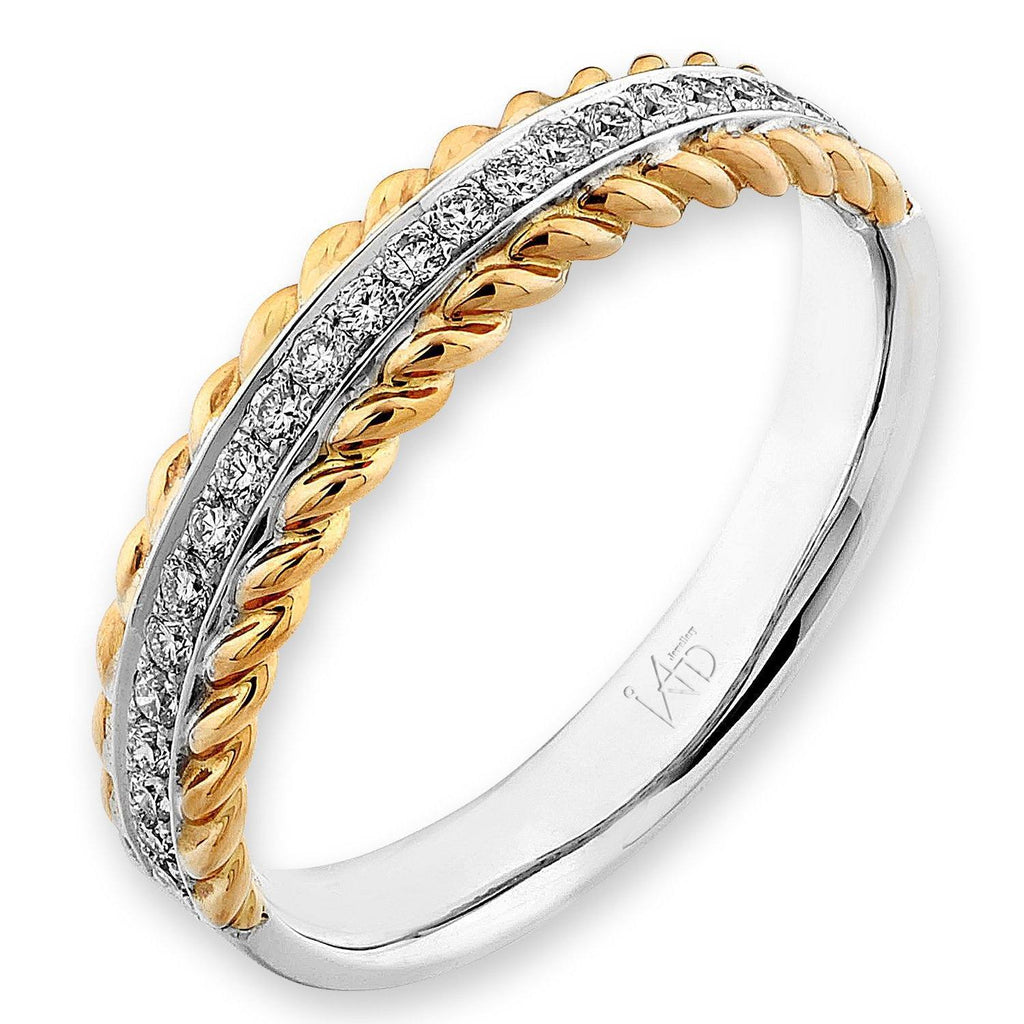 18k White & Yellow Gold Ring with Diamonds (0.18ct) Ring Olivia Davenport Fine Jewels