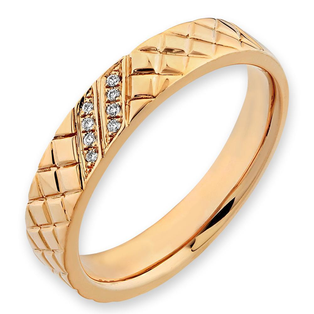 18k Yellow Gold Ring with Diamonds (0.022ct) Ring Olivia Davenport Fine Jewels