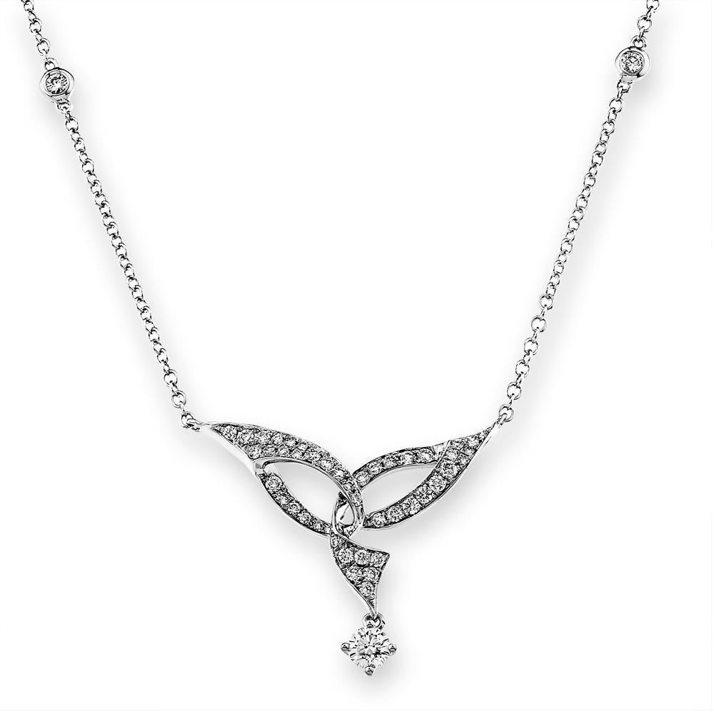 Angel-Wings Necklace in 18k White Gold with Diamonds (0.516ct) Necklace IAD