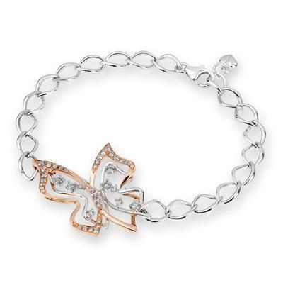 Butterfly Bracelet in 18k Rose & White Gold with Diamonds (.463ct) Bracelet IAD