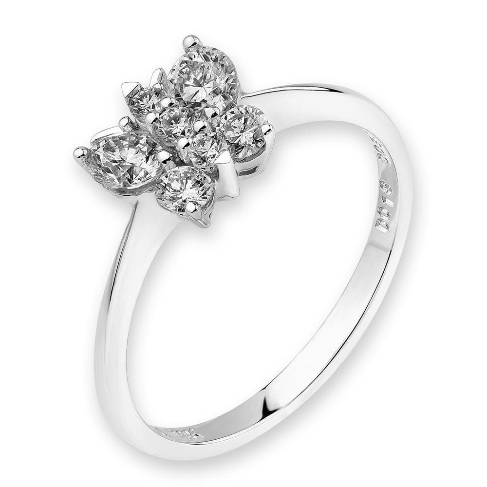 Butterfly Ring in 18k White Gold with Diamonds (0.48ct) Ring IAD