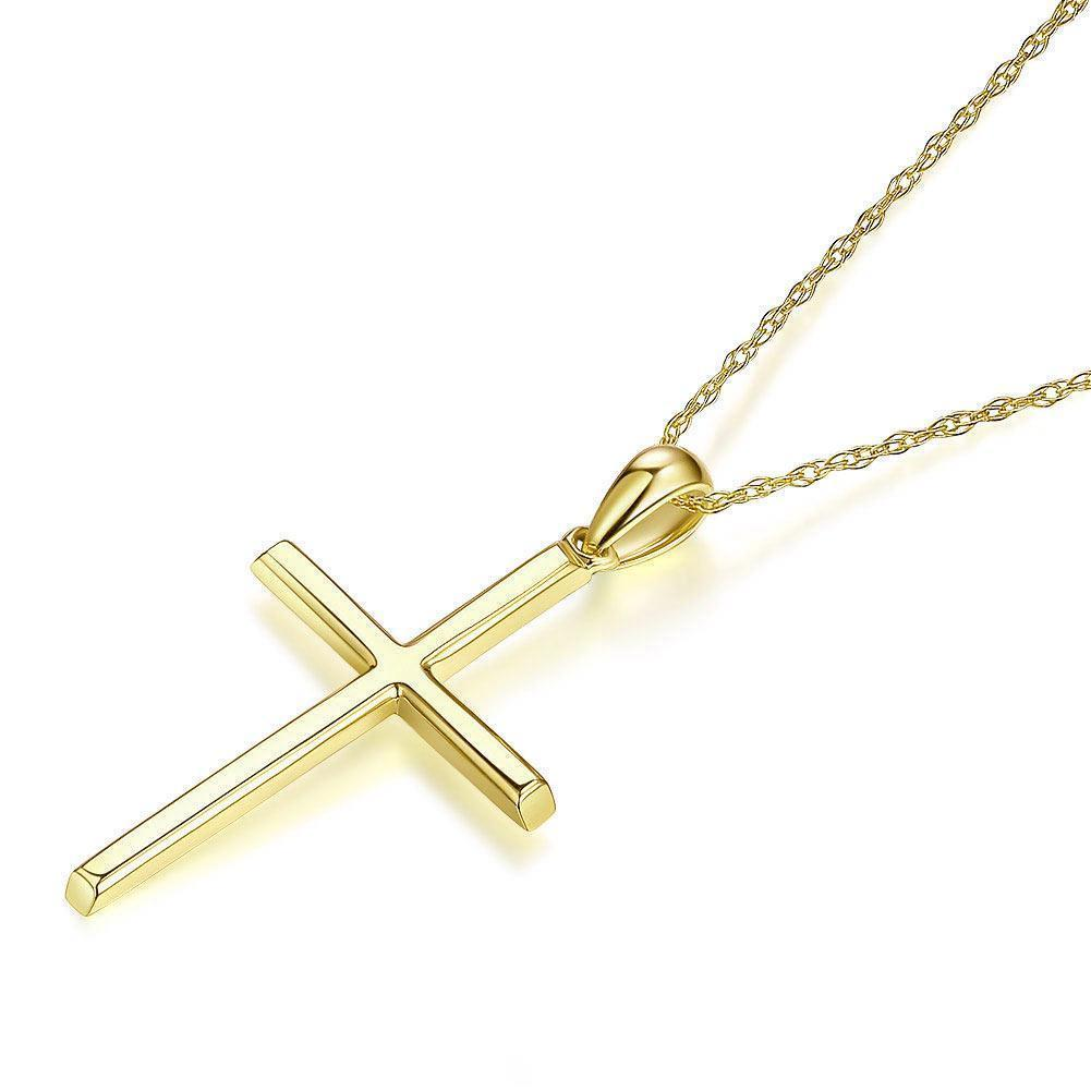 Cross Pendant in 14k Yellow Gold 14K Gold Pendants Oanthan