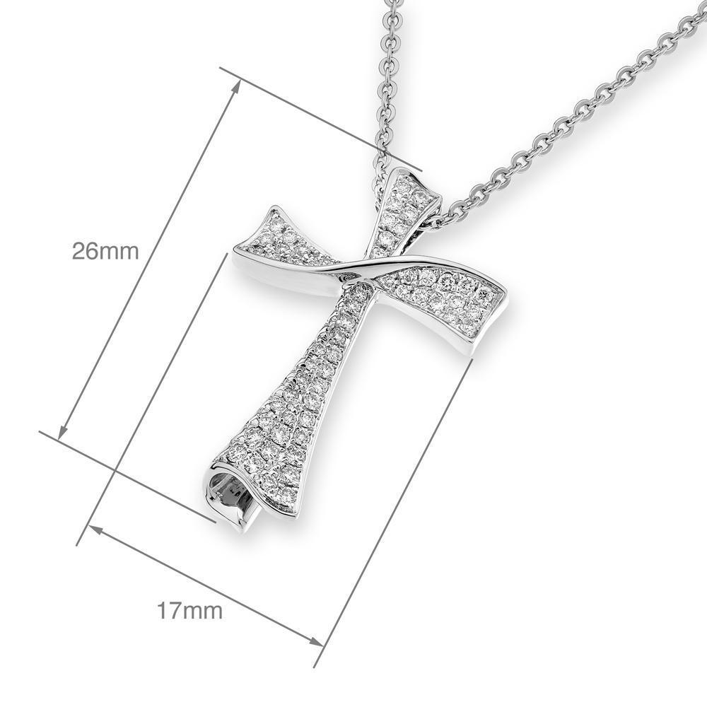 Cross Pendant in 18k Rose Gold with Diamonds (0.291ct) Pendant IAD