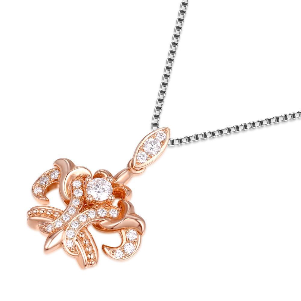 Crown Pendant in 18k Rose Gold with Diamonds (0.178ct) Pendant IAD