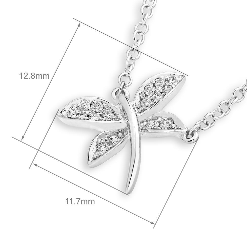 Dragonfly Necklace in 18k Rose Gold with Diamonds (0.083ct) Necklace IAD