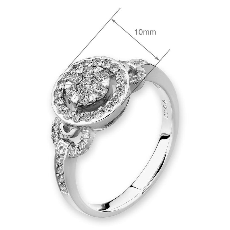 Engagement Ring in 18k White Gold with Diamonds (0.439ct) Ring IAD