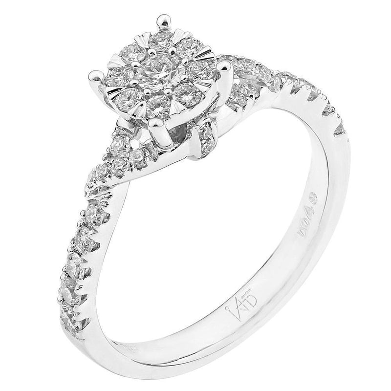 Engagement Ring in 18k White Gold with Diamonds (0.48ct) Ring IAD