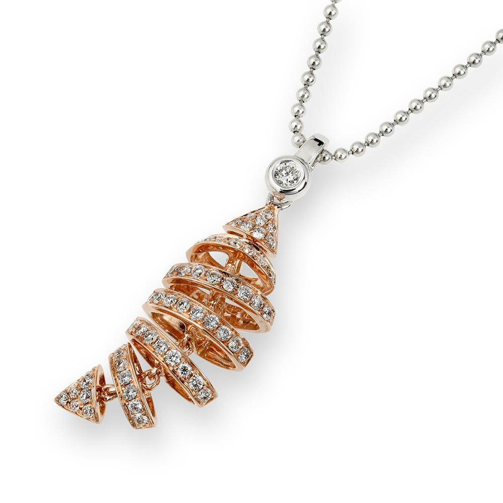 Fish (Ichthys) Pendant in 18k Rose Gold with Diamonds (0.309ct) Pendant IAD