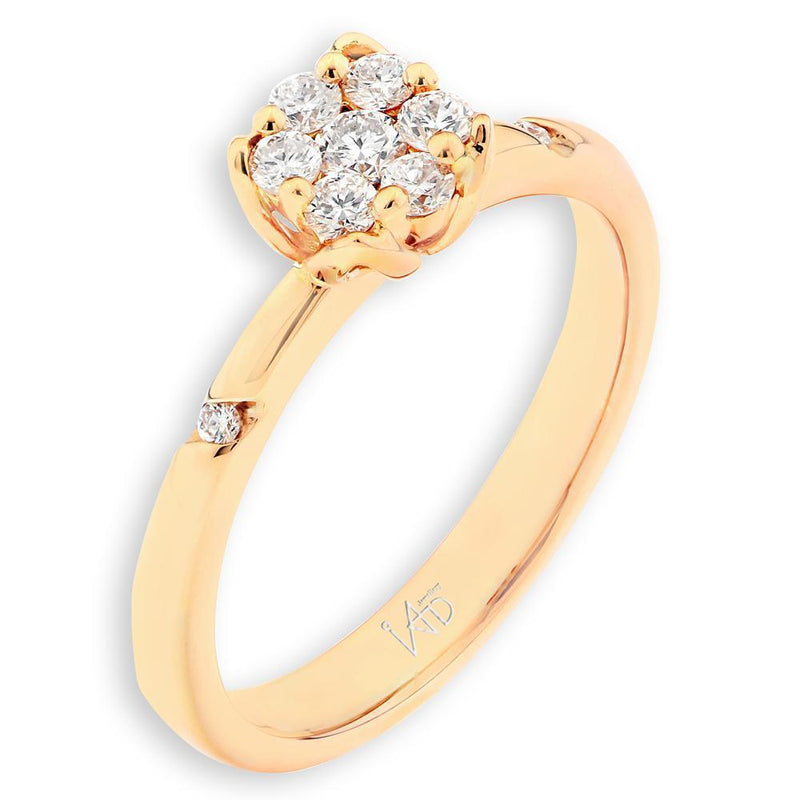 Flower Ring in 18k Yellow Gold with Diamonds (0.267ct) Ring IAD