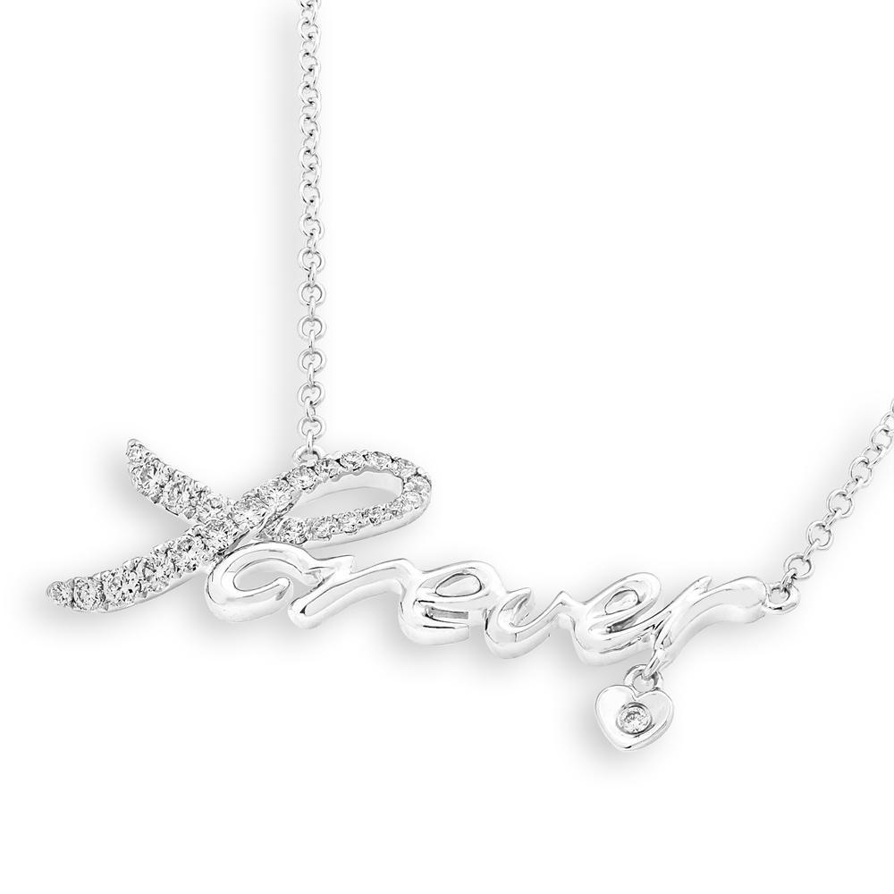Forever Necklace in 18k White Gold with Diamonds (0.279ct) Necklace IAD