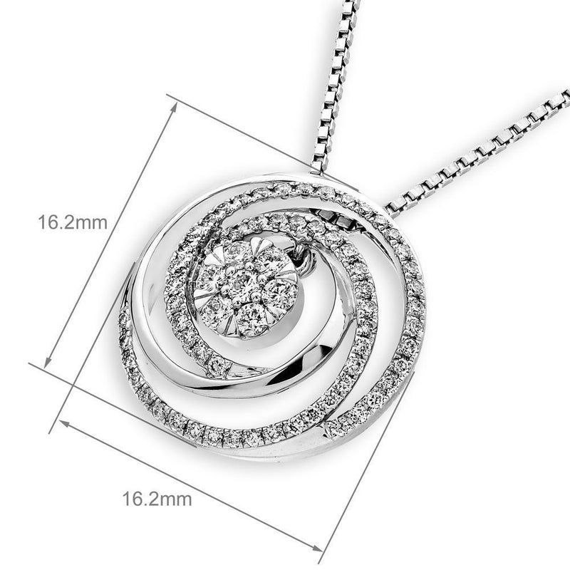 Galaxy Spiral Pendant in 18k White Gold with Diamonds (0.391ct) Pendant IAD